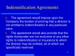 indemnification agreements2