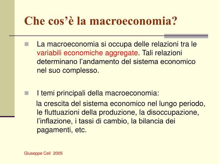 Che cos'è la macroeconomia?