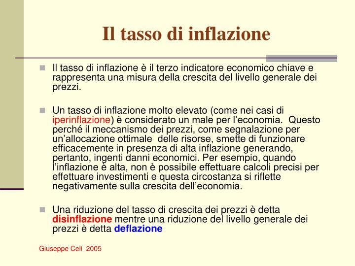 Il tasso di inflazione