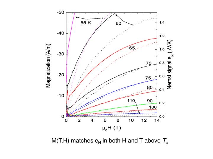 M(T,H) matches e