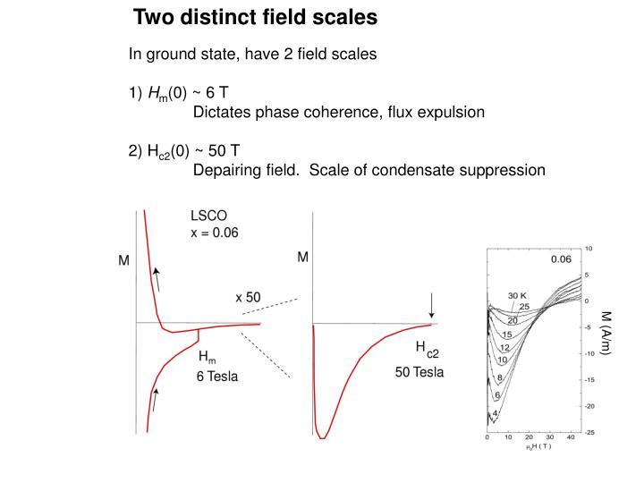 Two distinct field scales