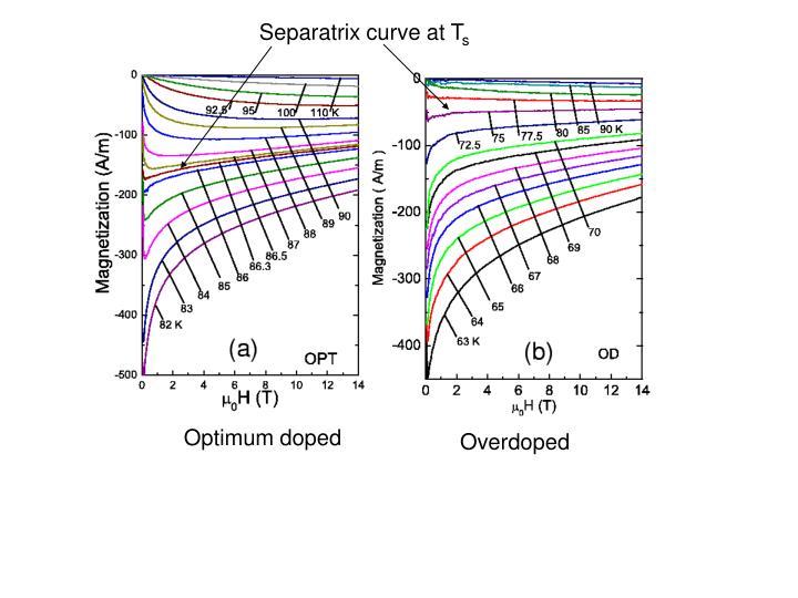 Separatrix curve at T