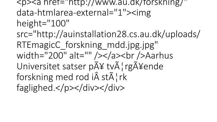"""<div class=""""mdd_column""""><div id=""""c1264"""" class=""""csc-default"""" class=""""csc-default""""><h3>FREMTIDENS <strong>FORSKNING</strong> ER INT"""