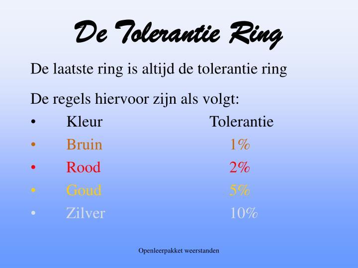 De Tolerantie Ring