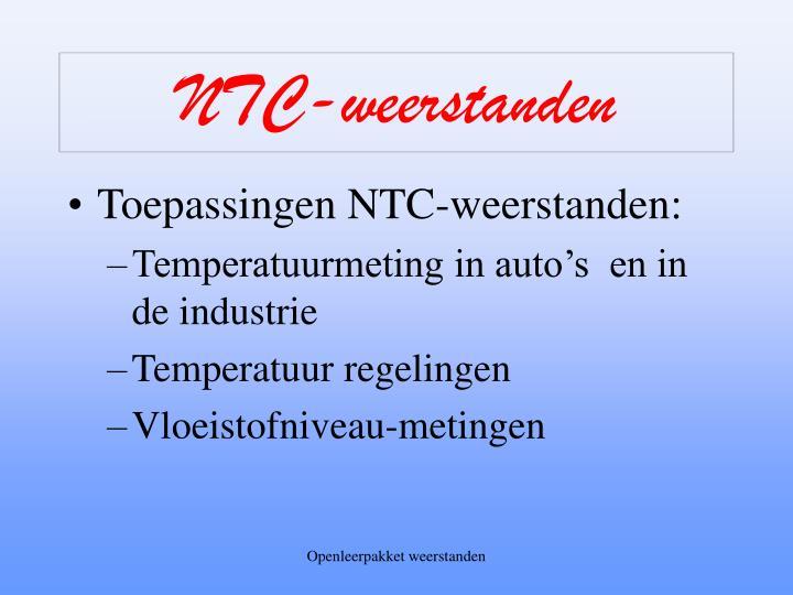 NTC-weerstanden