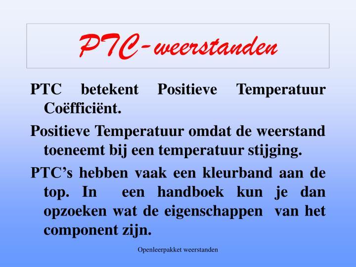 PTC-weerstanden
