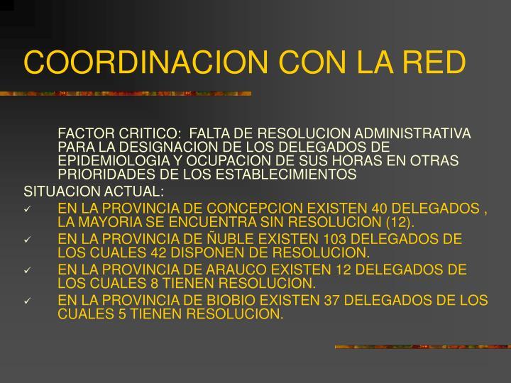 COORDINACION CON LA RED