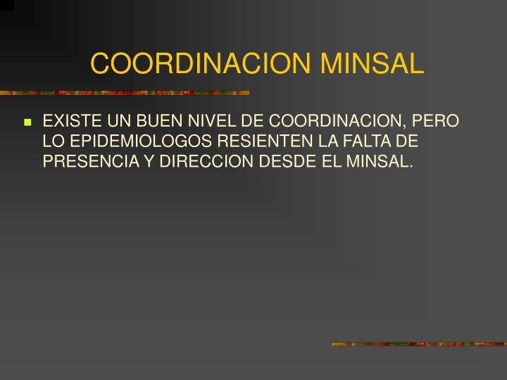 COORDINACION MINSAL