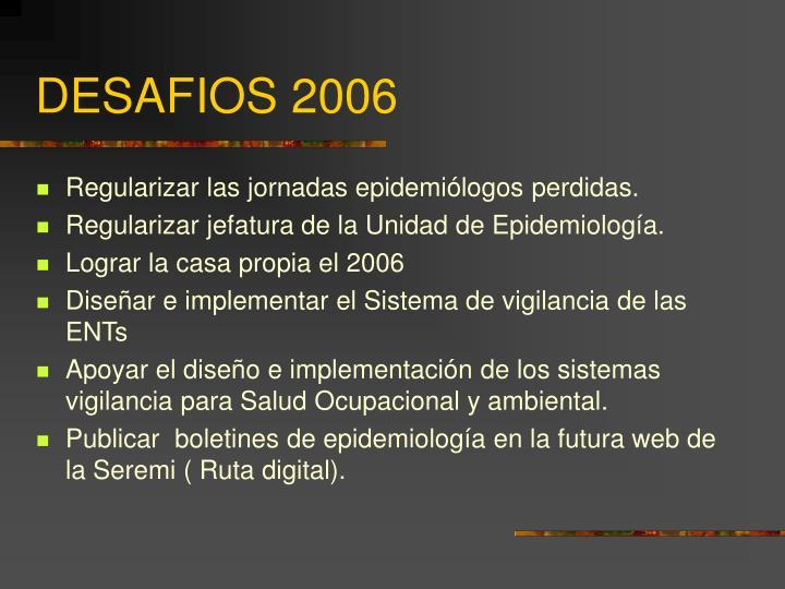 DESAFIOS 2006