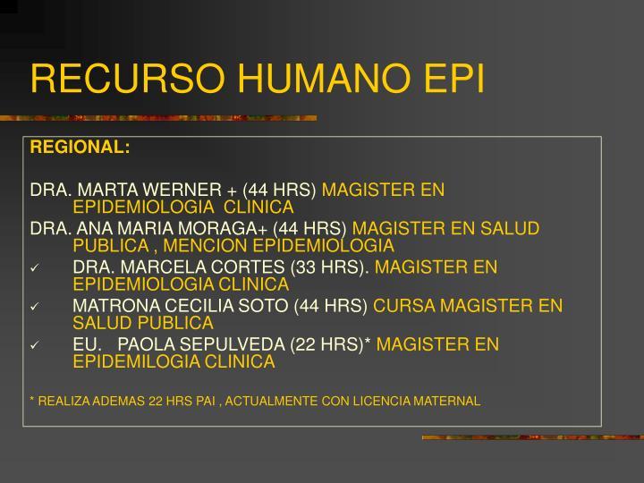 RECURSO HUMANO EPI