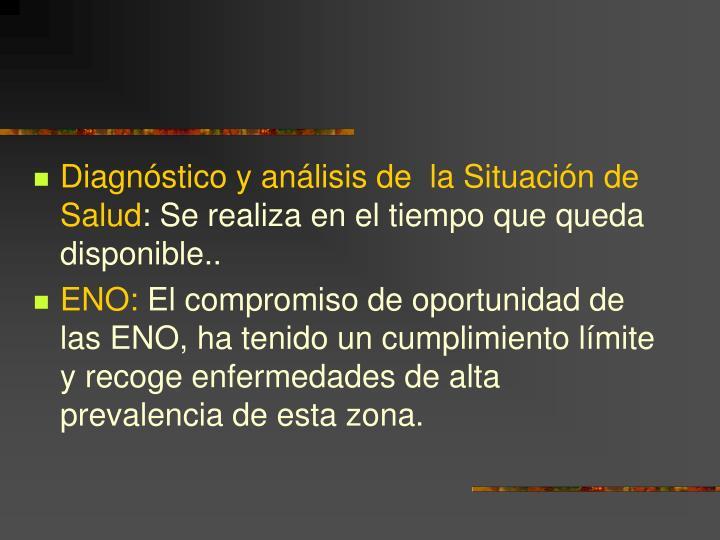 Diagnóstico y análisis de  la Situación de Salud