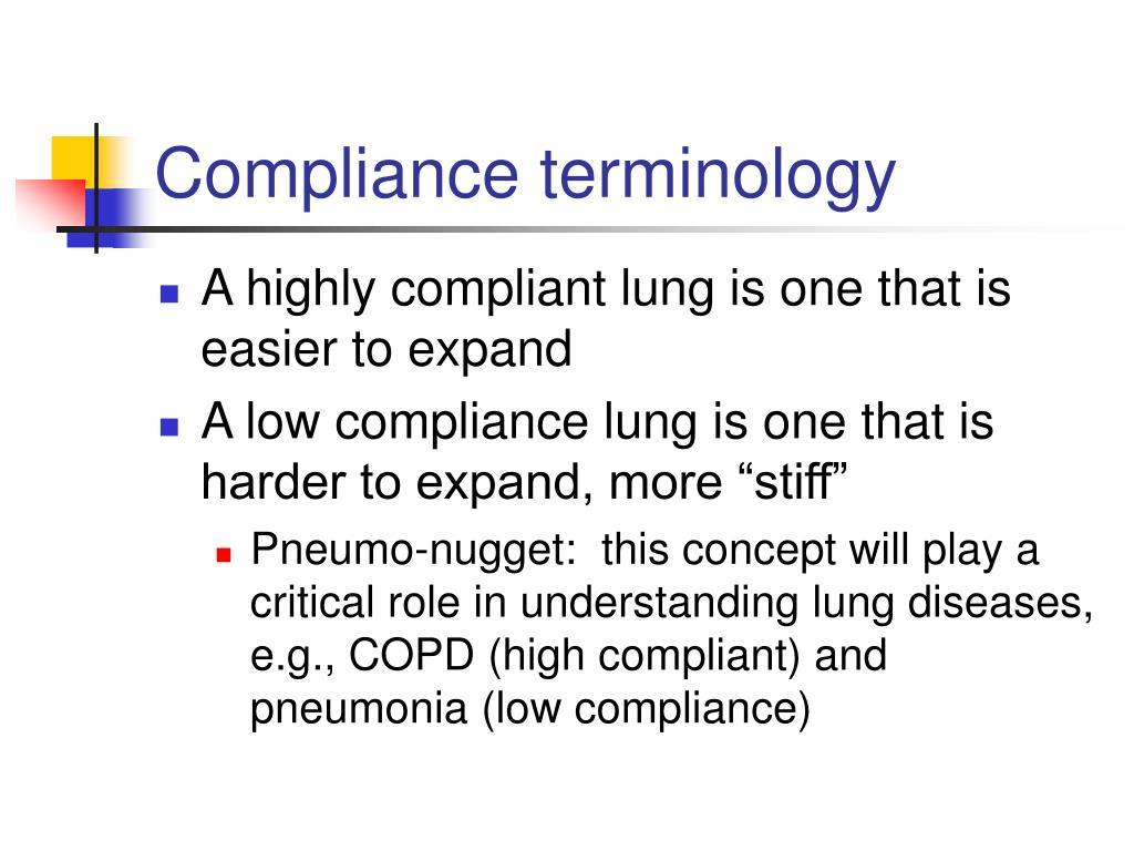 Compliance terminology