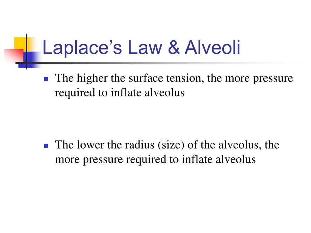Laplace's Law & Alveoli