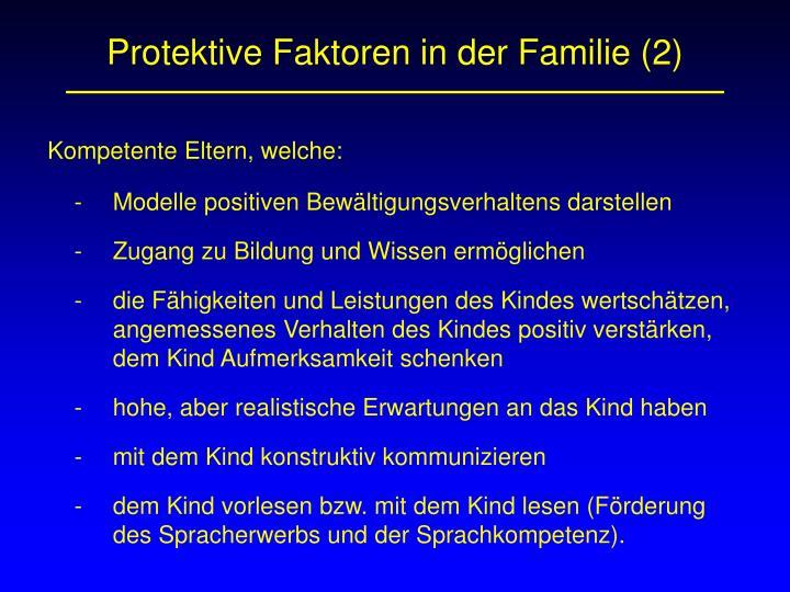 Protektive Faktoren in der Familie (2)