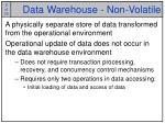 data warehouse non volatile
