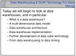 data warehousing olap technology for data mining