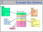 example star schema