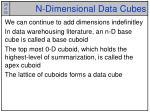 n dimensional data cubes