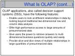 what is olap cont