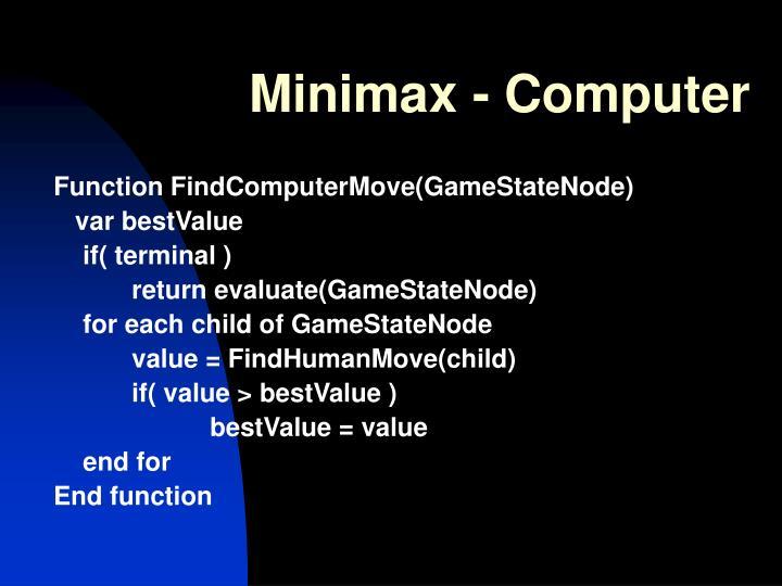 Minimax - Computer
