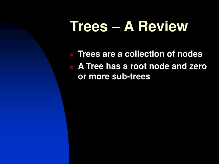 Trees – A Review