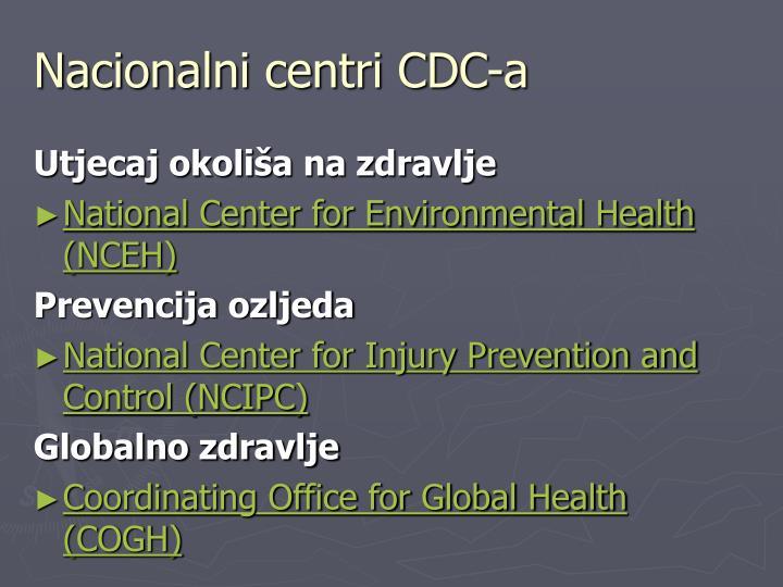 Nacionalni centri CDC-a