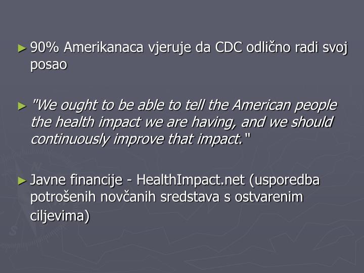 90% Amerikanaca vjeruje da CDC odlično radi svoj posao