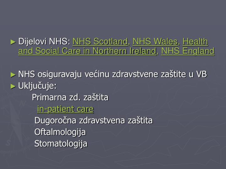 Dijelovi NHS: