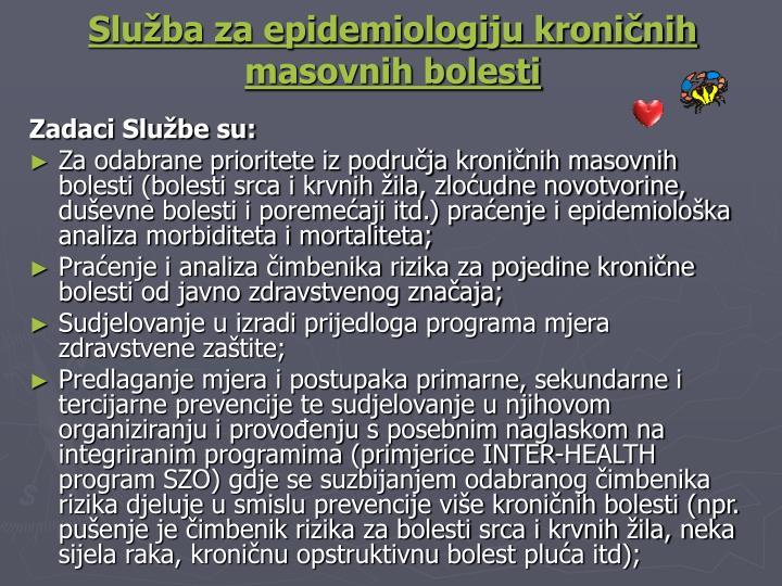 Služba za epidemiologiju kroničnih masovnih bolesti