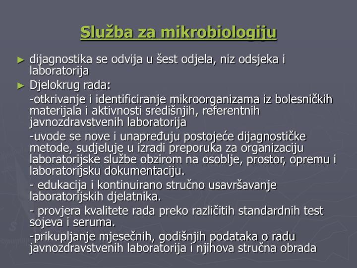 Služba za mikrobiologiju
