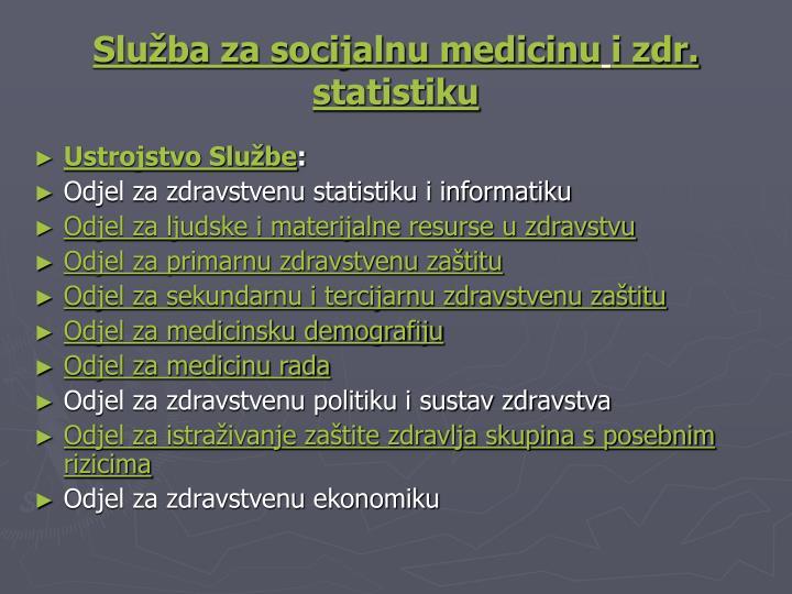 Služba za socijalnu medicinu