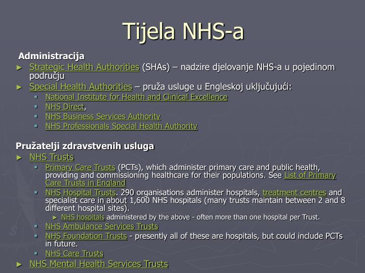 Tijela NHS-a