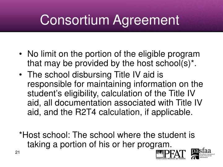 Consortium Agreement