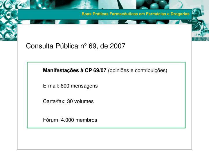 Consulta Pública nº 69, de 2007