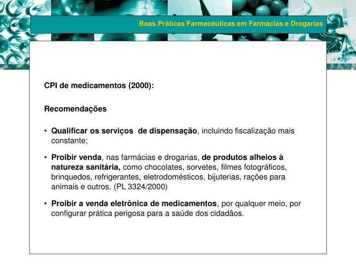 CPI de medicamentos (2000):