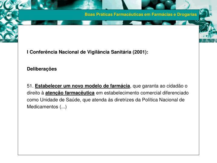 I Conferência Nacional de Vigilância Sanitária (2001):
