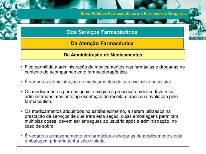 Dos Serviços Farmacêuticos