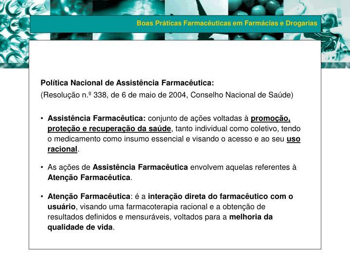Política Nacional de Assistência Farmacêutica: