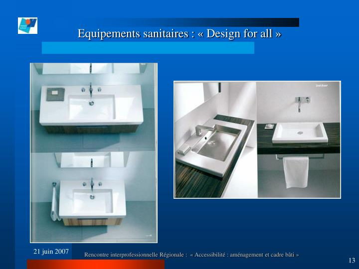 Equipements sanitaires : « Design for all »
