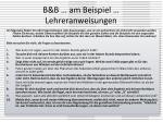 b b am beispiel lehreranweisungen