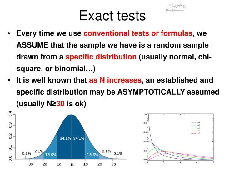 Exact tests