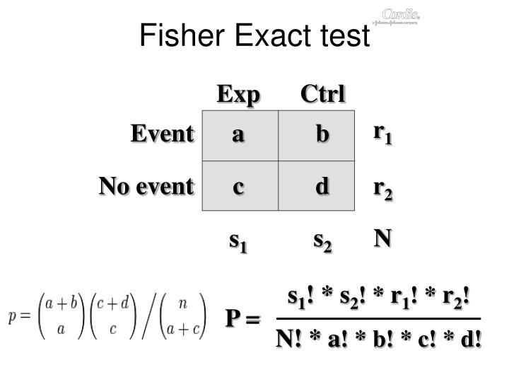 Fisher Exact test