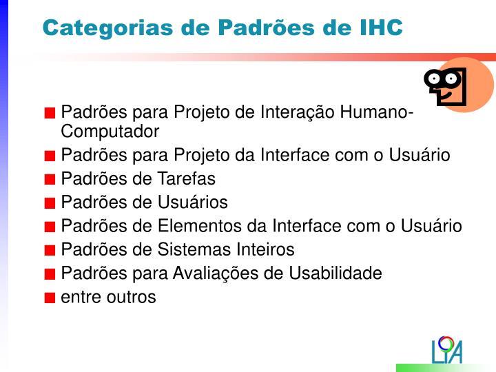 Categorias de Padrões de IHC