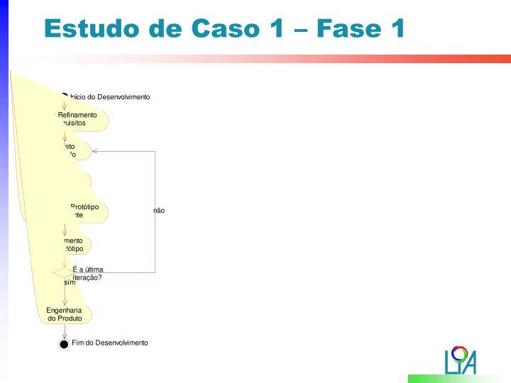 Estudo de Caso 1 – Fase 1