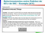 relacionamentos entre padr es de es e de ihc exemplo x y