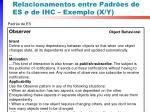 relacionamentos entre padr es de es e de ihc exemplo x y1