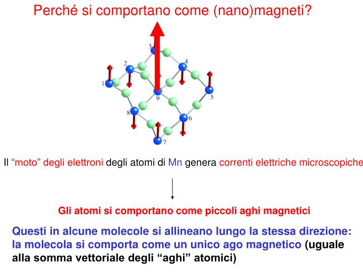 Perché si comportano come (nano)magneti?