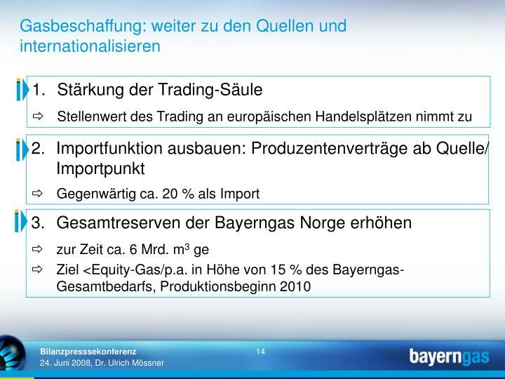 1.Stärkung der Trading-Säule