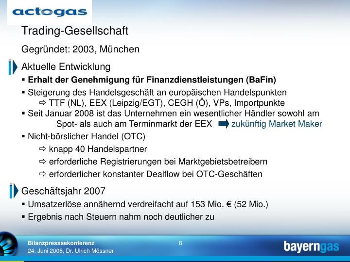 Trading-Gesellschaft