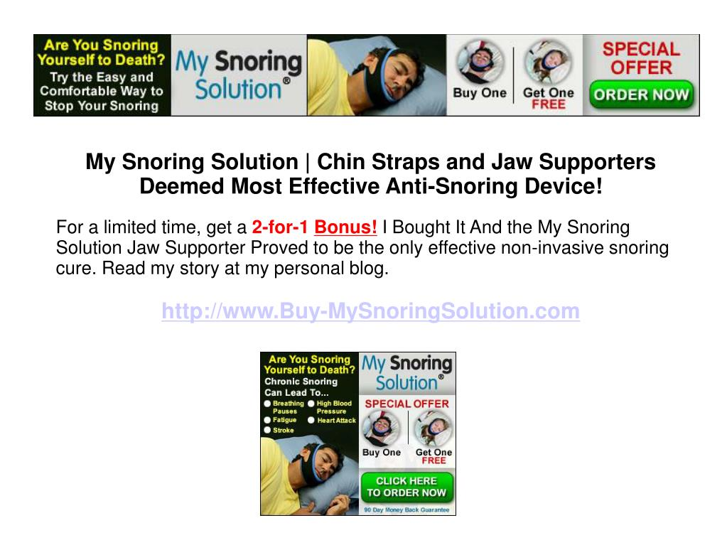 My Snoring Solution | Chin Straps and Jaw Supporters Deemed Most Effective Anti-Snoring Device!